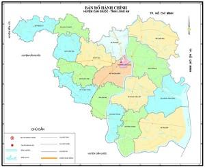 Bản đồ huyện Cần Giuộc