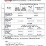 Kế hoạch thời gian năm học tỉnh Long An năm 2016- 2017